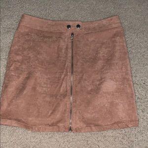 kendall & kylie light salmon skirt